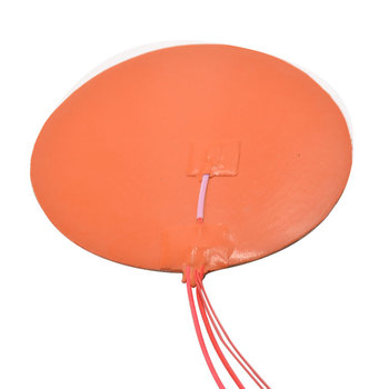 Silicone heating pad heater 200mm for 3d printer circular heat bed image