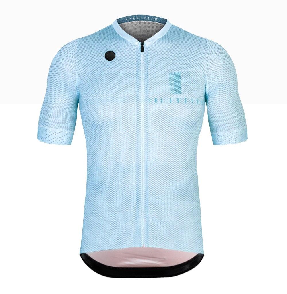 Spor ve Eğlence'ten Bisiklet Formaları'de 2019 yaz örgü bisiklet jersey kısa kollu MTB bisiklet bisiklet giyim erkek ropa maillot ciclismo yarış giysileri title=