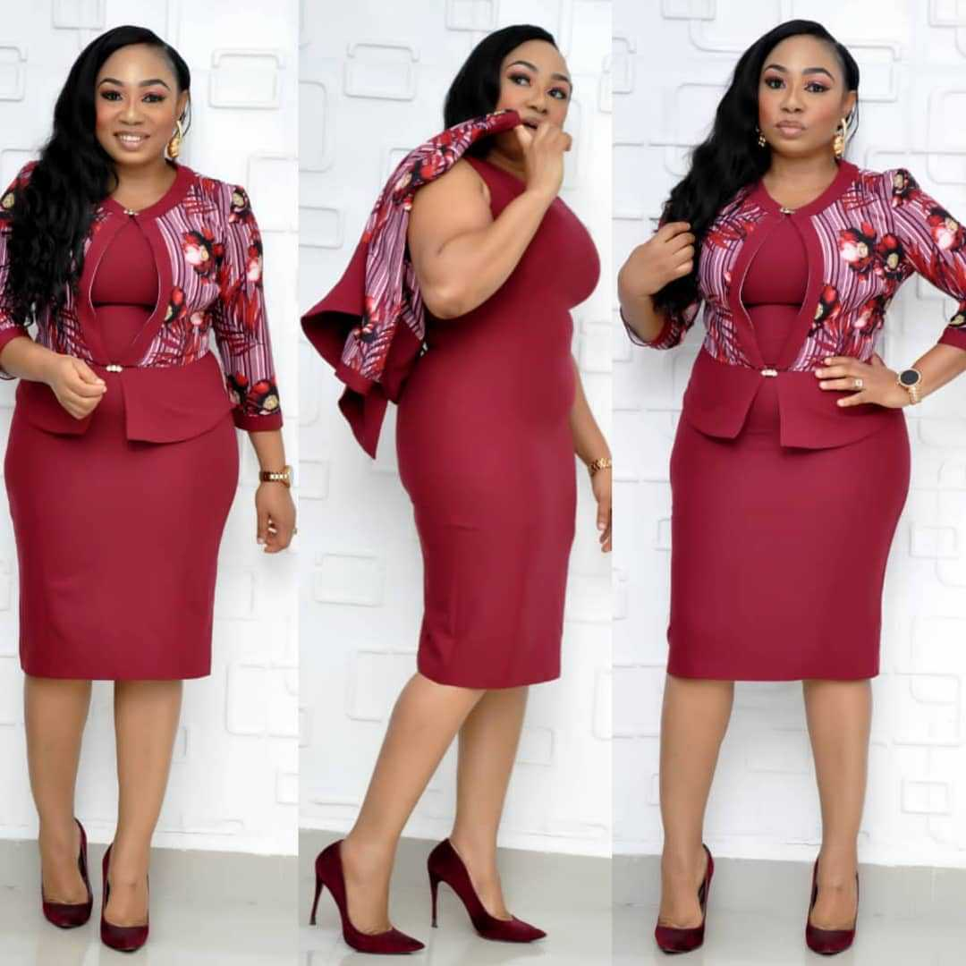2019 New Autumn Elegent Fashion Style African Women Printing Plus Size Knee-length Dress L-4XL