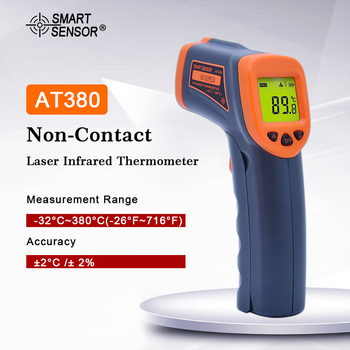 AT380 Non-Contact Laser Infrared Thermometer  Digital IR Thermometer IR Laser Point Gun Pyrometer -32C~380C(-26F-716F)