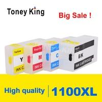 Canon PGI-1100 maxify mb2010 mb2110 mb2710 프린터 용 toney king 리필 잉크 카트리지