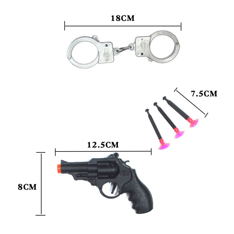Huilong Children Can Fire A Pistol Card With A Revolver Soft Gun With A Handcuffs Police Model Children Toys