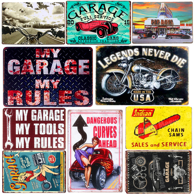 Vintage Metal Tin Signs Motorcycle Retro Plaque Poster Bar Pub Club Wall Tavern Garage Home Decor Plate Art Craft 20*30cm A124