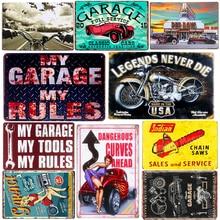 цена на Vintage Metal Tin Signs Motorcycle Retro Plaque Poster Bar Pub Club Wall Tavern Garage Home Decor Plate Art Craft 20*30cm A124