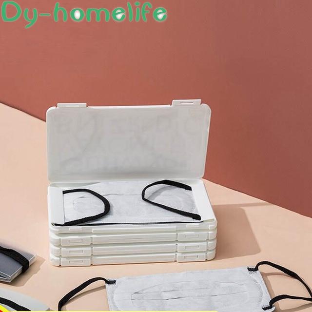 PP Plastic Mask Storage Box Korean Cartoon Portable N95 Medical Masks Storage Outdoor Home Travel Anti-virus Hygiene Products