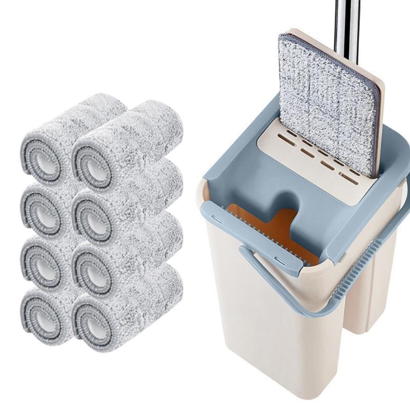1/8 Uds limpieza magia trapeadores mano libre fregona con cubo envío pisos apretón de fregona con agua a casa cocina limpiador Cepillo lateral de filtro de HEPA Mop pad filtro primario de Kits para ilife V8 V8s X750 X800 X785 V80 pieza de aspiradora