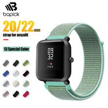 BAPICK 20/22mm Nylon Sport Strap For Xiaomi Amazfit Bip Gts Gtr Strap Bracelet For Huami Amazfit Pace Stratos Gtr 42 47mm Strap(China)