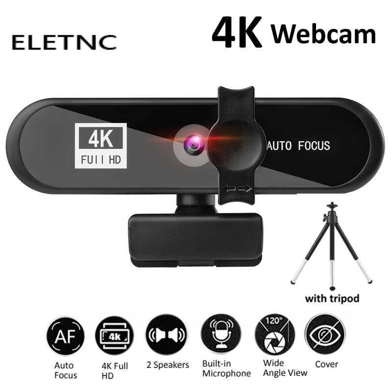 Webcam 2K 4K 1080P Full HD With Microphone Auto Focus USB Web Camera Meeting For Laptop Desktop PC Computer Mini Cam Accessories