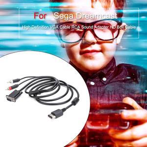 Image 4 - Kabel VGA o wysokiej rozdzielczości Adapter dźwięku RCA kabel HD Box dla Sega Dreamcast kabel VGA dla SEGA Dreamcast DC wysoka jakość