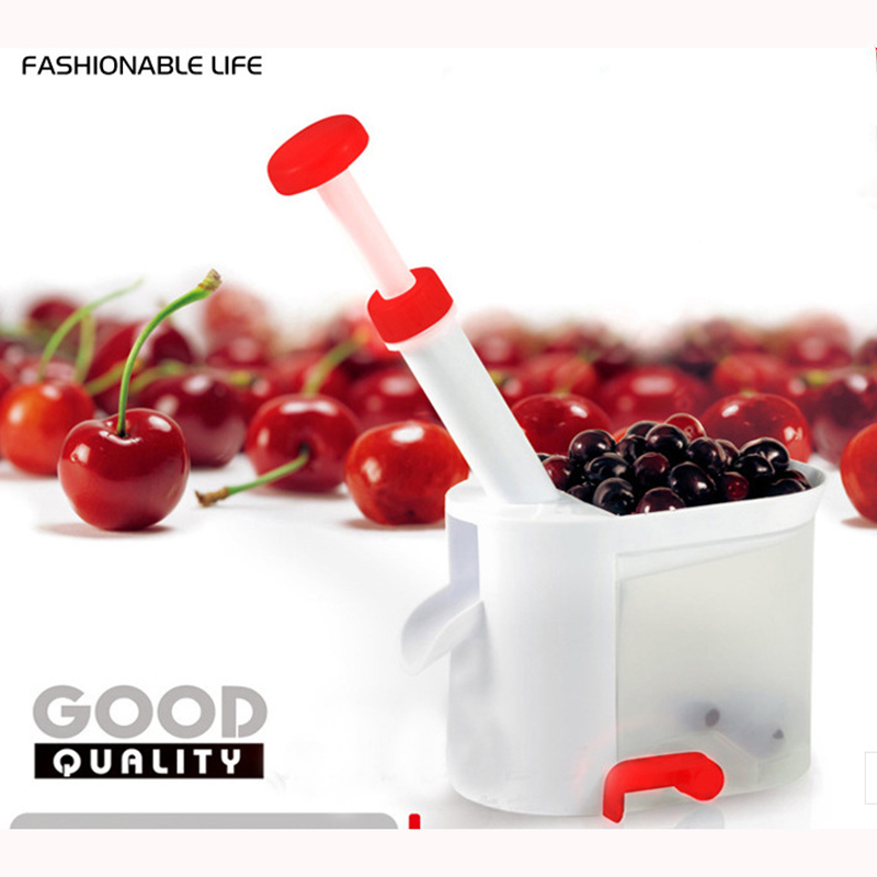 New Cherry Pitter Cherry Seed Remover Cherry Machine Cherries with Container Kitchen Gadgets Tool Kitchen Gadget for Cherry