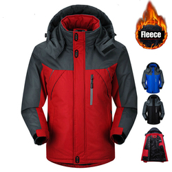 Winter Men Ski Jacket Parka Thermal Fleece Coats Men Snowboard Jackets Windbreaker Jaqueta Windproof Waterproof Coats Men 5XL