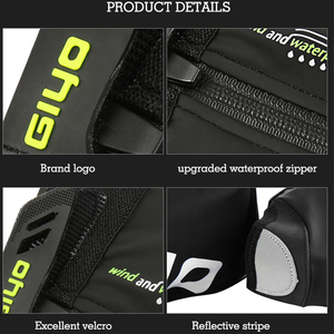 Image 4 - Waterproof Windproof Fleece Warm Cycling Lock Shoe Covers Reflective Bicycle Overshoes Winter Road Bike Shoes Cover Protector