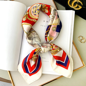 New style headscarf spring and autumn 2020 women's fashion printing large square scarf lady Beach silk scarf Luxury Travel Shawl