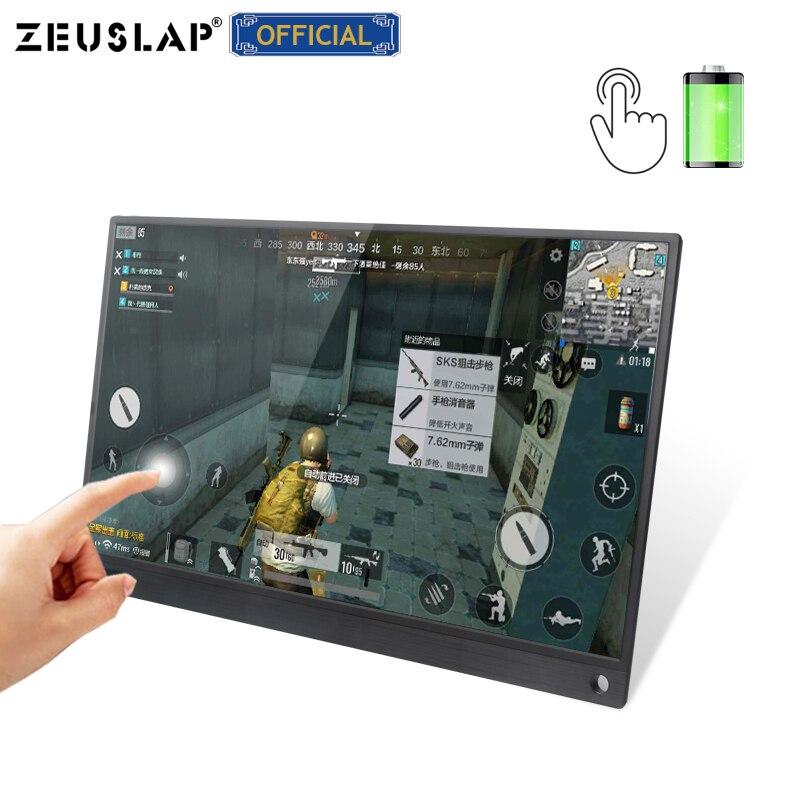 15.6 pouces batterie tactile Portable moniteur USB C HDMI écran tactile moniteur pour Samsung DEX, Huawei EMUI, ordinateur Portable, commutateur, PS4