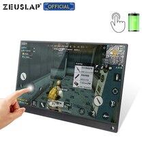 Портативный сенсорный монитор с аккумулятором 15,6 дюйма, USB C HDMI, сенсорный экран, монитор для samsung DEX, huawei EMUI, ноутбука, коммутатора, PS4