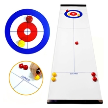 Foldable Mini Curling Table Curling Ball Tabletop Curling Game For Kid Adult Fam