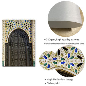 Image 5 - Affiche de porte avec Architecture islamique, toile imprimée de mosquée, Alhambra, peinture artistique murale, décoration de maison moderne