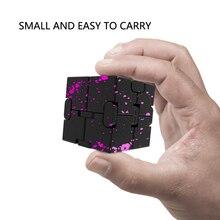 Алюминиевый сплав бесконечный куб декомпрессия артефакт творческая игрушка-вибратор Камуфляж Флип блок
