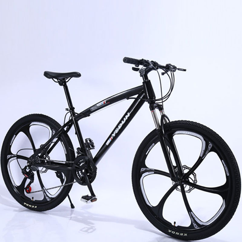 Mountain Bike Man Student One Round Six Knife Youth Racing Women Speed Double Disc Brakes Shock Off Road Adult Bicycle