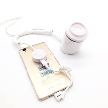 (10 set/lot) smartphone shop desktop counter anti-theft display sensor alarm charging device with remote control function new arrival 2018 small size white color remote control charging function security alarms display holder for smartphone