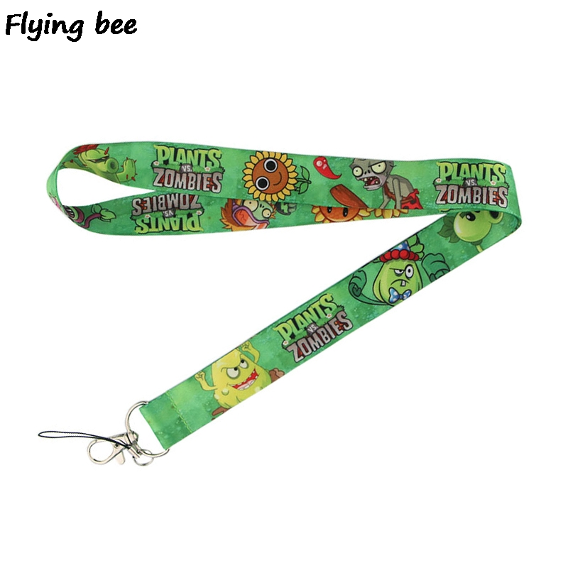 Flyingbee Zombie Game Lanyard Phone Rope Keychains Phone Lanyard For Keys ID Card Cartoon Lanyards For Men Women X0461