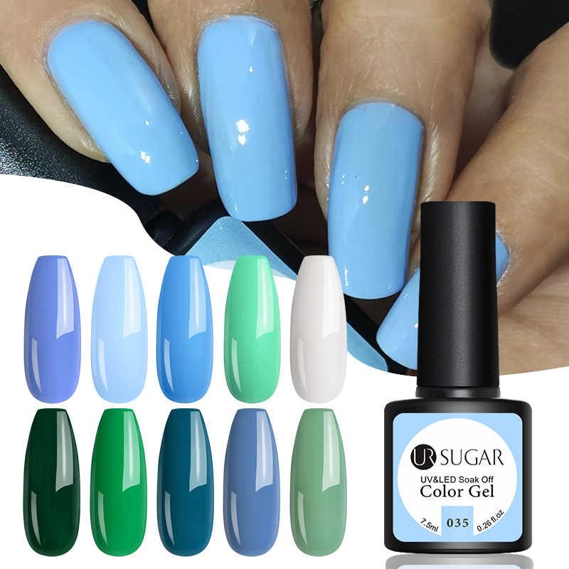 UR SUGAR Blue Series เจล 60 สีเล็บ Soak Off UV GEL เคลือบเงากึ่งถาวรเจลเคลือบเงาเล็บ Art