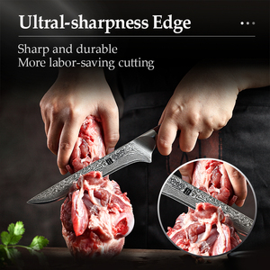 Image 5 - XINZUO 6 inch Eviscerate Knife Japan style Damascus Steel Kitchen Knife High Quality Boning Fillet Fish Knives Rosewood Handle