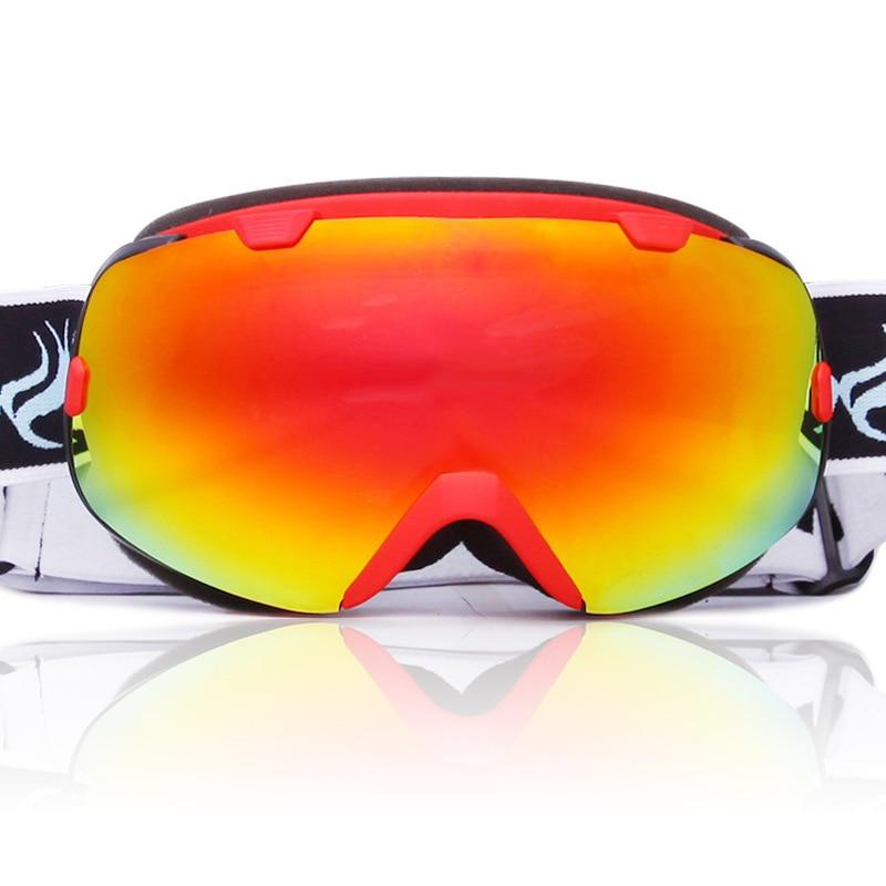 Lunettes de Ski sphériques Anti-buée Protection Double couches grandes lentilles lunettes hommes femmes lunettes de neige Ski UV400 Snowboard lunettes - 2