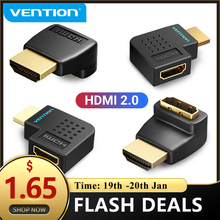 Vention HDMI Adapter 270 90 grados ángulo recto HDMI macho a HDMI convertidor hembra para PS4 HDTV HDMI Cable 4K HDMI 2,0 extensor