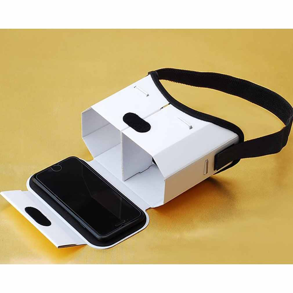 لتقوم بها بنفسك نظارة الواقع الافتراضي المحمولة جوجل كرتون نظارات ثلاثية الأبعاد نظارة واقع افتراضي ل 4 بوصة-6 بوصة هاتف ذكي