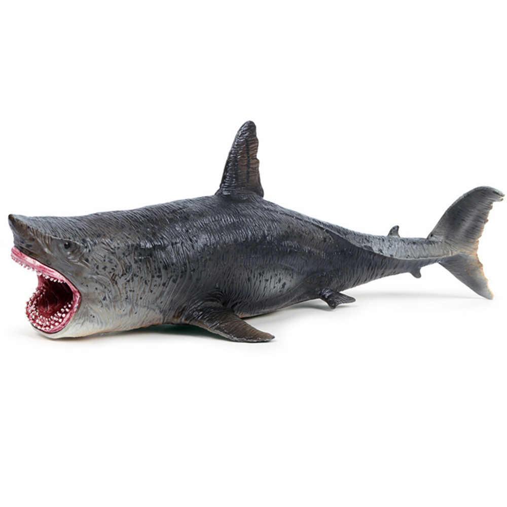 Şaka Oyuncakları Gerçekçi Köpekbalığı Deniz Hayvan Figürü Katı plastik oyuncak Model Hayvanlar Oyuncaklar Ev masa dekoru