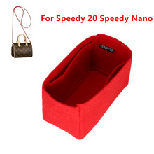 Fits SPEEDY Nano 20 Felt Cloth Insert Bag Organizer Makeup Handbag shaper Travel Inner Purse Portable Cosmetic Bags