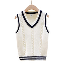Autumn Winter Fashion Kid Girls Pullover Childrens Sleeveless Sweaters Baby Boys Crochet Cotton Wool Knitted Coat Vest