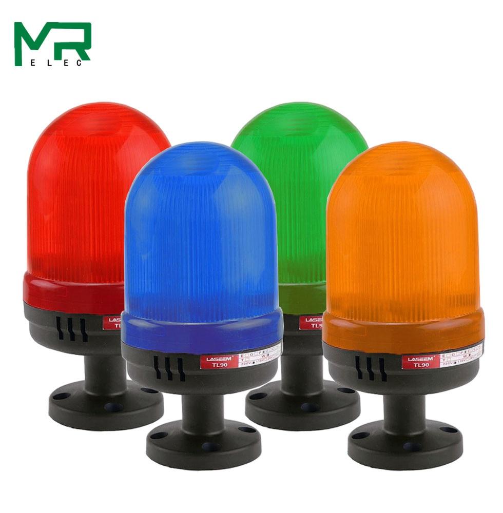 LED Strobe Signal Warning Light  Yellow Blue Red Green LED Warning Light 12V 24V 110V 220V