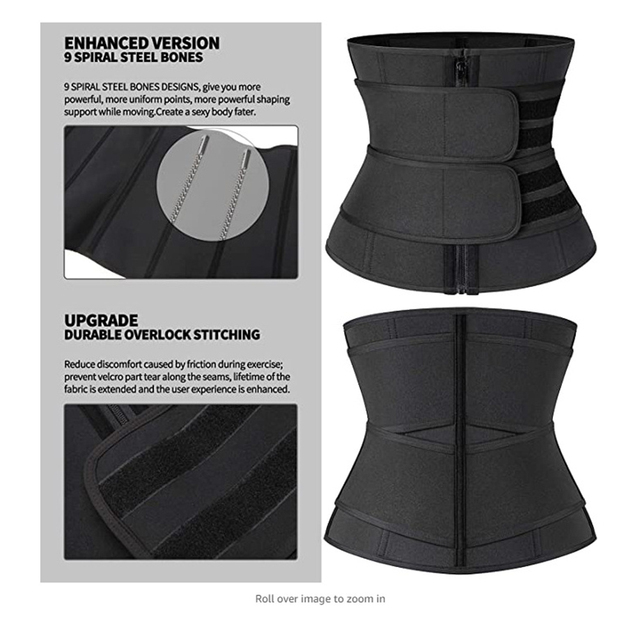 Waist Trainer Support Belt Workout Tummy Control Fitness Sweat Slimming Band for Working-out Comfortable Decoration 2