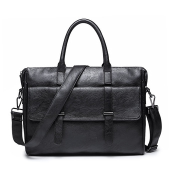 Business Men's Briefcases Men's Bag Genuine Leather Messenger Bags Laptop Bag Leather Briefcase Office Bags for Men Tote