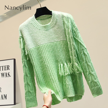 Thin Handmade Tassel Sweater Women Loose Autumn Clothes New Knitted Jackets Long Sleeves Jumper Female Tracksuit Ladies Pullover