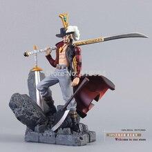 """Anime One Piece Dracule Mihawk Monkey D luffy PVC figurka kolekcja zabawka 6 """"15cm"""