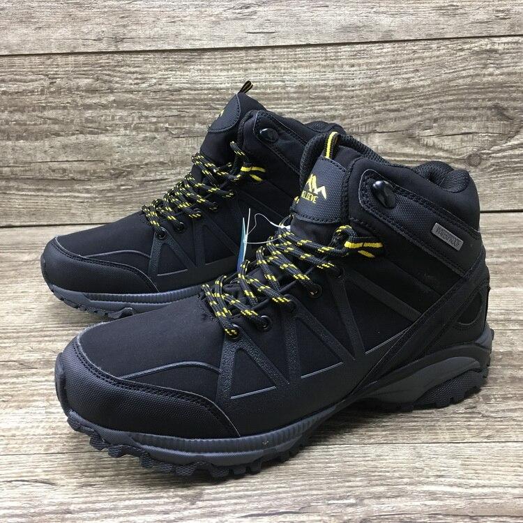 Уличные водонепроницаемые походные треккинговые ботинки для мужчин и женщин, флисовая Водонепроницаемая походная обувь для охоты, прогуло...