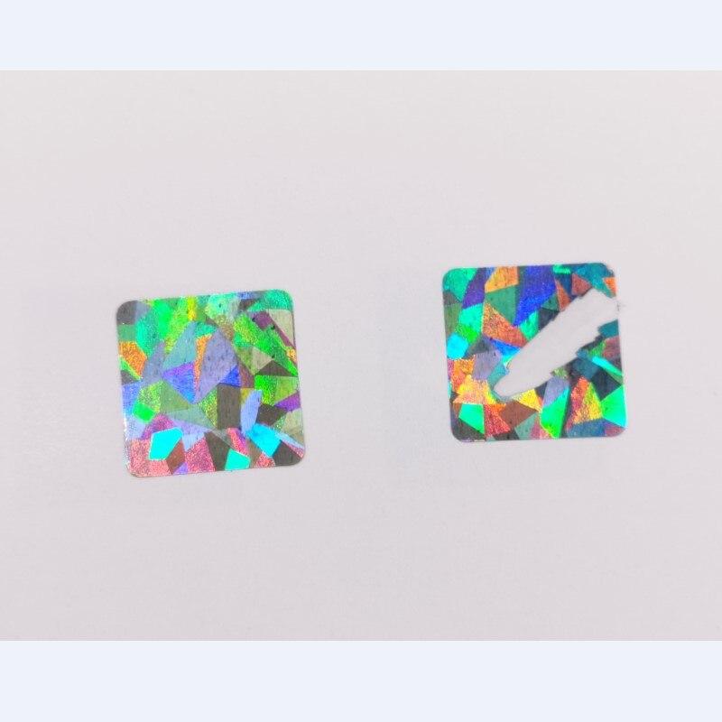 diamante laser cor metálico holograma jogo scratch adesivo cartão de casamento