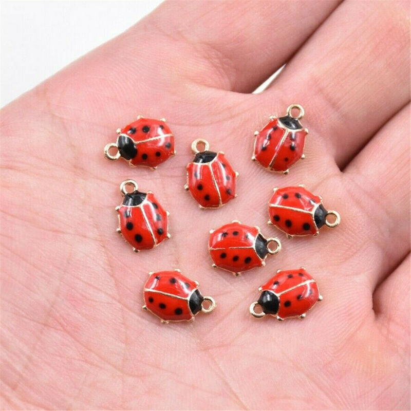 pack of 2 Slide charm ladybird