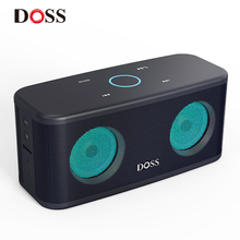 DOSS SoundBox Plus TWS Bluetooth Speaker 2*8W Portable Wireless Speakers Stereo Sound Box Deep Bass 20H Play time with LED Light doss ds 1388 metal case bluetooth speaker portable bass sound box