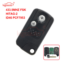цена на Kigoauto 72147-TOA-J51 Replacement Smart Remote Key Fob 2 Button 433MHz ID46 Chip for Honda CR-V CRV 2013 2014 2015 2016