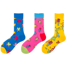 2020 New High Quality Men Colorful Happy Socks Men's Hipster Punk Funny Socks Kawaii Heart Dancing Plus Size Crazy Art Socks