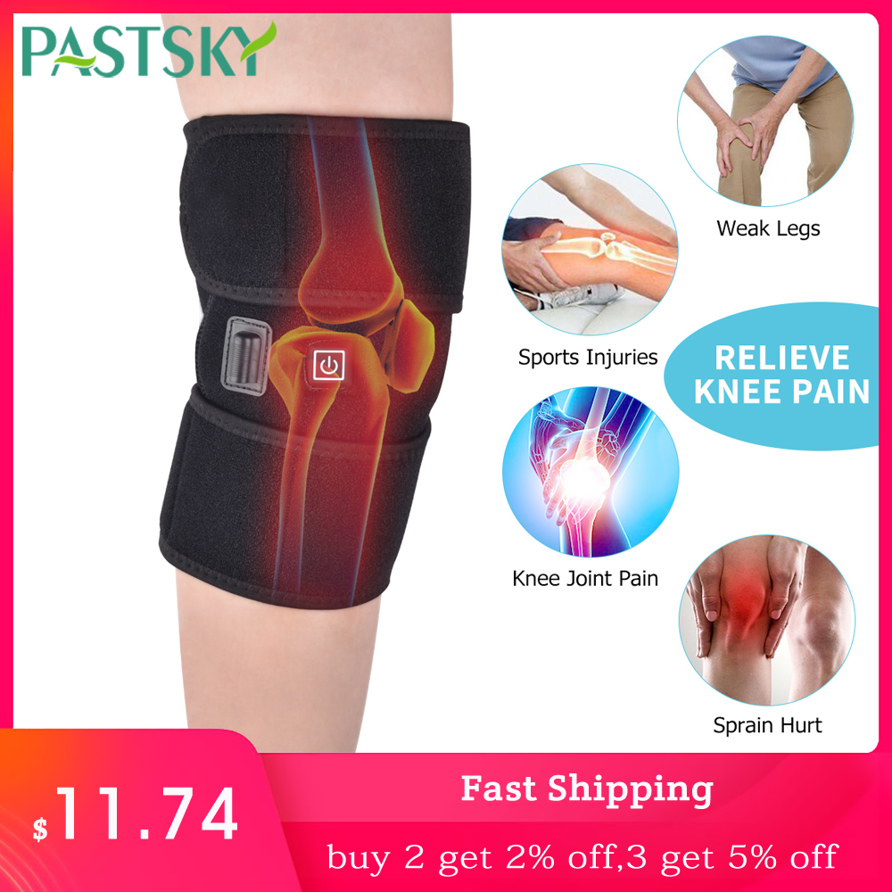 Infrared Heated Knee Brace Support Arthritis Wrap Pain Relief Massager Injury Cramps Recovery Hot Therapy Rehabilitation