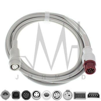 Compatible with 12pin Mindray Monitor IBP Cable and Argon Philips BD Edward Medex Abbott Smith PVB Utah Pressure Transducers image