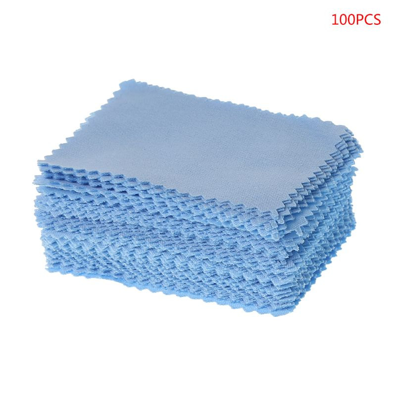 100 Pcs/Pack Glasses Cloth Lens Cleaner Dust Remover Portable Wipes Non-woven Fabric Phone Computer Screen Accessories image