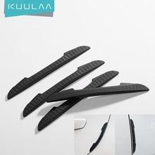 KUULAA 4Pcs Car Anti-Collision Strip Car Door Guard Protector Door Edge Trim Guards Styling Moulding Anti-Scratch Sticker