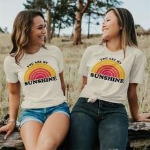 2020 летние топы красивая футболка you are my sunshine Женская