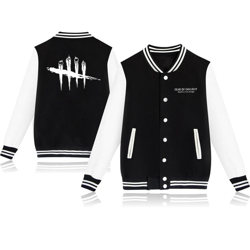 Unisex Fashion Baseball Jacket Dead By Daylight Baseball Uniform  Harajuku Sportswear Boys Girls Lovely Cotton Jackets Clothes 7